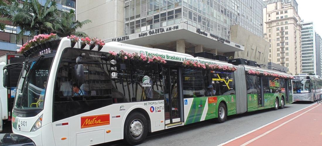 Dia da Mobilidade Elétrica terá ônibus Eletra na Paulista